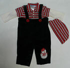 NEW YOUNGLAND BOYS ONE PC OUTFIT W/ CAP SNOWMAN Size 0/3 or 3/6 MO CHRISTMAS