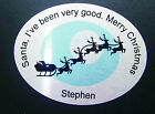 Personalised Coaster, Santas sledge, I've been good - Christmas Xmas