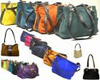 New Designer Italian REAL SUEDE LEATHER Handbag Womens Slouch Tote Gift Bag