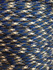 Blue Camo 550 Paracord Mil Spec Type III 7 strand parachute cord 10 - 100 ft