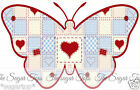 25 x Shabby Chic Style Chequered Butterflies Edible Decorations Cup Cake Toppers