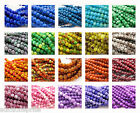 BAKED BEADS Opaque Glass with Brilliant Multicolor Varnish Select Size and Color