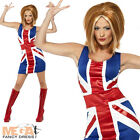 Union Jack Fancy Dress Ladies National Dress Spice Girl Jubilee Costume Outfit