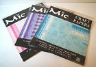 Mic Craft Papers * 12 assorted sheets per pack * 3 Colours * Scrapbook * Crafts
