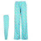 BNWT Womens Cupcake Pyjama Bottoms 8-14 PETITE Full Length/Long Sky-Blue Jersey