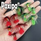 Lot 30pcs Fishing Treble Hooks with feather for Fishing Minnow Popper Soft lures