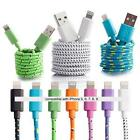 Fabric Braided Charger Cable USB Data FOR apple iPhone X 8 7 6 plus 6S 5S C ipod