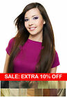 "20""-22""Remy Human Hair Clip in Extensions Thick to Ends Black Brown Blonde Red"