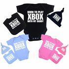 Baby Clothes XBox Daddy Bodysuit Vest Hat Bib Set Outfit Boys Girls Shower Gifts