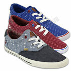 mens Rock & Revival denim spotted trainers canvas sneakers plimsolls lace pumps