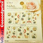 Color Printing Water Tranfer Nail Art Stickers Gift Japanese Lady Style 6-29