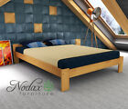 NEW BEDROOM SOLID WOOD PINE FURNITURE BED 3ft *4ft *4ft6in*5ft WALNUT OAK ALDER