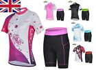 UK Stock Cheji Bicycle Cycling Team Lady Sports Outfit Jerseys+ Shorts Sz S-XXL