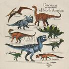 DINOSAURS OF NORTH AMERICA--T Rex Reptiles 2 Sided Kids T shirt sizes Sm, Md, Lg