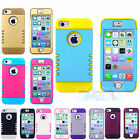 Hybrid Tough Hard Heavy Duty Case Cover For iPhone 5 5S 5C + Pen Shock proof