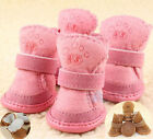 Winter Warm Anti-slip Pet Dog Puppy Cozy Boots Shoes Booties Fashion Rubber