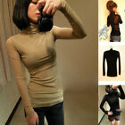 1x Lady Girl Sexy Turtle Neck Slim Long Sleeve Bottoming Shirt Tops Blouse New
