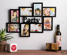 8 IN 1 Wooden PARTY UNIGIFT  WALL COLLAGE PHOTO FRAME Black White Mountable 4x6