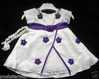 Cadbury Purple Ivory Flower Girl Bridesmaid Christening Party Dress 0-3m to 12y