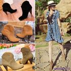 Women Genuine Leather Ankle Boot Martin Boots Shoes Thick with High Boots GQ11