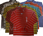 St. John's Bay Stripe Mens Jersey Soft Comfort Cotton Top Long Sleeve Polo Shirt