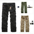 Men's Casual Military Army Cargo Camo Combat Style Work Pants Trousers 30~38