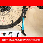 Bicycle Mountain Bike Cycle Alloy Air Pump Schrader & Wood Valves Tyres Inflator