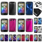 Pink/Black/Silver/Purple Cosmo Back Hard Case For HTC Sensation 4G+3.5mm Headset