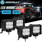 4Pcs 4inch 18W Spot CREE LED Work Light Offroad 4WD Fog ATV Driving Lamps Toyota