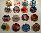 VINTAGE AIRLINE GOLD PLATED BADGES: 48 DESIGNS` BEA, TWA, BOAC,  PAN AM + MORE