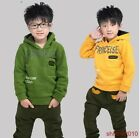 2PCS Kids Clothes New Boys' Sport Suit Fleece Hooded Outwear Outfits cw46