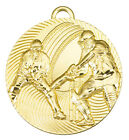 50mm Cricket Medals, Gold, Silver & Bronze - free ribbon