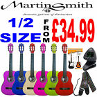 MARTIN SMITH KIDS 1/2 HALF SIZE ACOUSTIC GUITAR - BAG STRAP BOOK ENO TUNER STAND