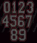 Jersey NUMBER 7 inch Tall Rhinestone Custom color Sports Transfer Iron On bling