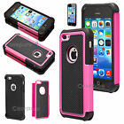 Apple iPhone 5C Hybrid Rugged Shock Rubber Hard Case Silicone Rubber Cover+Film