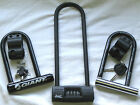 Heavy Duty Pocket Size Bike Bicycle Key Combi nation Security U Lock D Lock