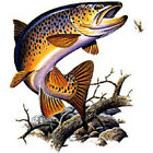 Brown Trout Fish Fishing T-Shirt Out Of Water All Sizes And Colors