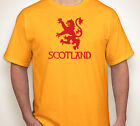 SCOTLAND rampant lion Scottish flag/pride team soccer gold jersey/T-shirt S-5XL