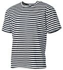 RUSSIAN MARINE SAILOR BLACK STRIPED SHORT SLEEVE T-SHIRT TELNYASHKA NAVY SM-XXXL