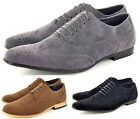 New Mens Faux Suede Casual Formal Lace Up Brogue Fashion Shoes In UK Sizes 5-11