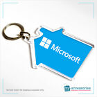 Blank House Shape Keyring Keychain for Estate Agents - Plastic 59x56mm (S-HOUSE)