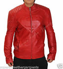 Superman Smallville Red Leather Jacket with Superman Embossed Emblem BNWT