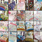 CHILDRENS KIDS SINGLE DUVET QUILT COVER BEDDING SET BOYS GIRLS WITH PILLOW CASE