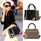 Women's Luxury Vintage Leopard Shoulder Bags Designer Faux Leather Tote Handbags