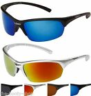 NEW SUNGLASSES SPORTS POLARIZED UV400 BLACK MENS WOMENS BOYS DRIVING WRAP X57