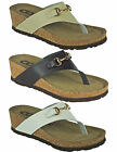 Womens Ladies Leather Toe Post Light Weight Comfort Wedge Sandal SIZE 3-8 (Y84)