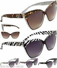 D.E DESIGNER WOMENS LADIES GIRLS BLACK CAT EYE BIG OVERSIZED SUNGLASSES G-5041