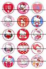 "VALENTINES HELLO KITTY 1"" PRE CUT BOTTLE CAP IMAGES SCRAPBOOKING CRAFT PROJECTS"