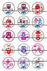 "LOVE OWLS 1"" PRE CUT BOTTLE CAP IMAGES SCRAPBOOKING CRAFT PROJECTS"
