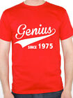 GENIUS SINCE 1975 - Birth Year / Birthday Gift / Novelty Themed Men's T-Shirt